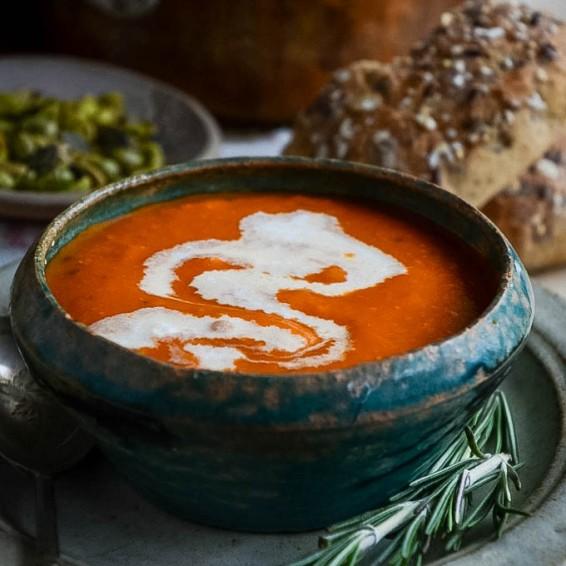Tomato Mascarpone Soup 3 by larderlove