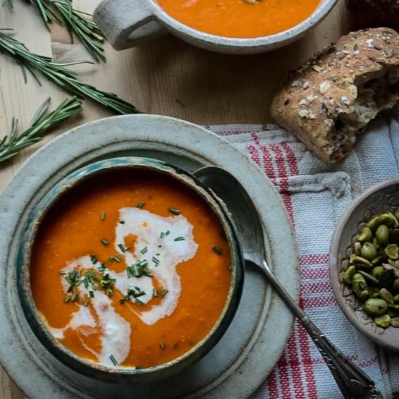 Tomato Mascarpone Soup 5 by larderlove